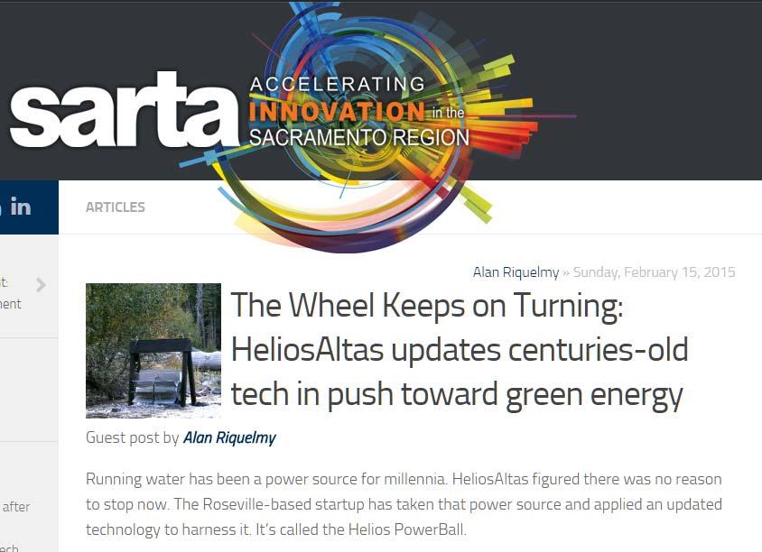 The Wheel Keeps on Turning: HeliosAltas updates centuries-old tech in push toward green energy