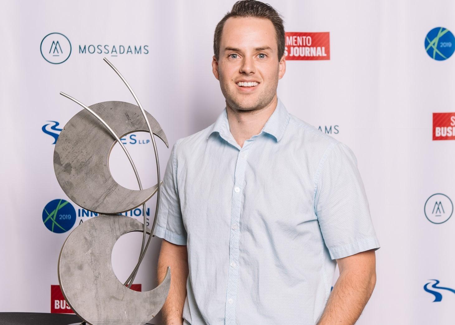 Hank CEO. Zachary Denning, with Innovation Award
