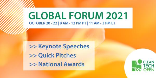 2021 Cleantech Open Global Forum